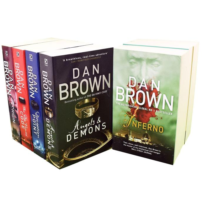 Dan Brown 7 Books Collection Set Robert Langdon Series Inferno, Origin, Digital