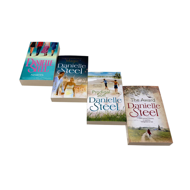 Danielle Steel 4 Books Collection Set - Magic, The Award, Sisters, Prodigal Son