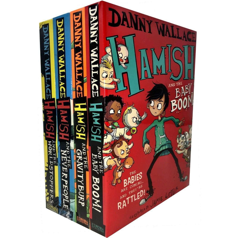 Danny Wallace Hamish 4 Books Collection Set Hamish & the Gravityburp, Baby Boom