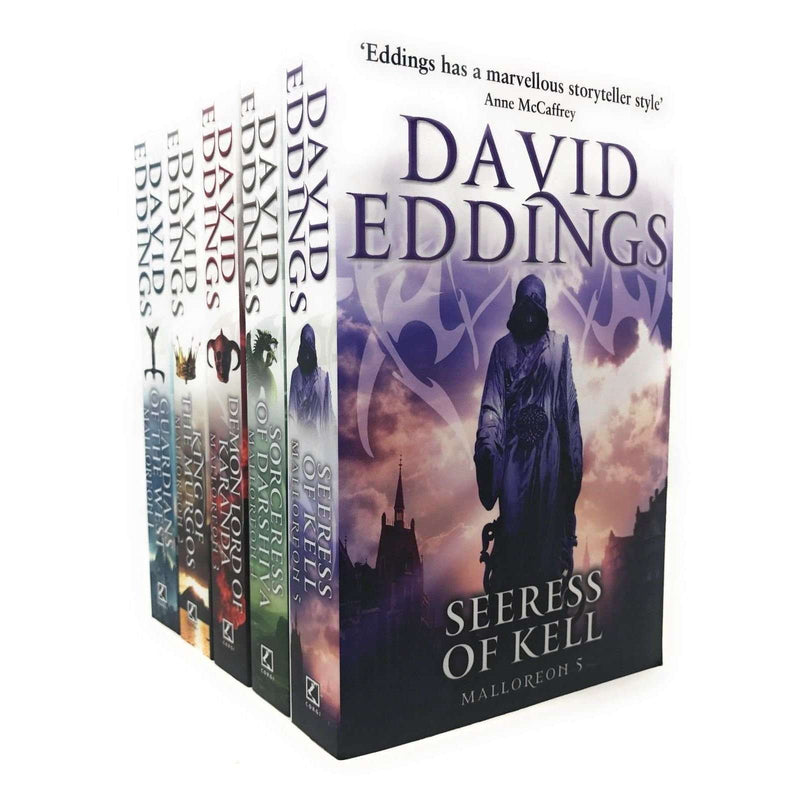 David Eddings The Malloreon Series 5 Books Set Collection Guardians Of The West