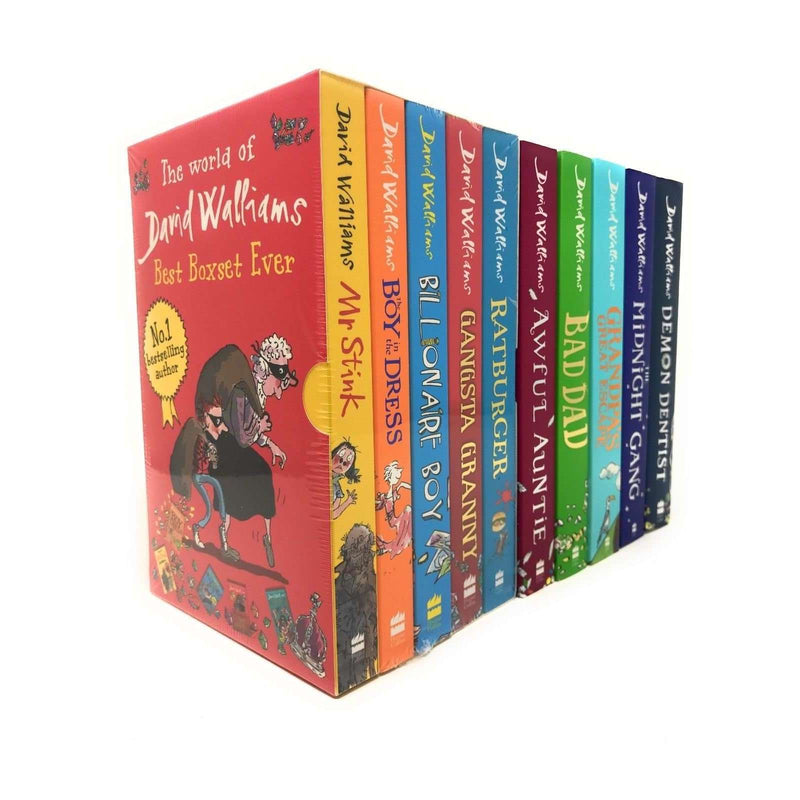 David Walliams 10 Books Collection Set Gansta Granny, Demon Dentist, Mr Stink