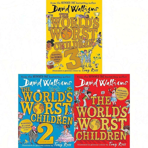 David Walliams World's Worst Children 1-3 Collection 3 Book Set Pack