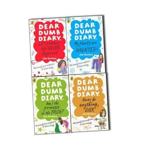 Dear Dumb Diary Jim Benton 4 Books Collection Pack Set- Am I the Princess