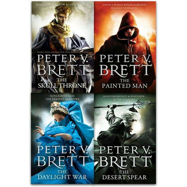 Demon Cycle Series 4 Books Collections Set By Peter V. Brett Inc Desert Spear