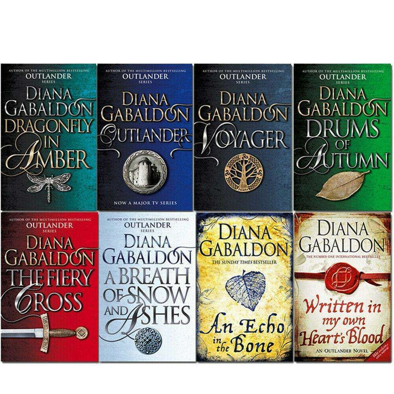 Diana Gabaldon Collection Outlander Series 8 Books Set Dragonfly In Amber