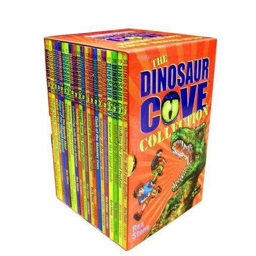 Dinosaur Cove series 20 Books set Collection Rex Stone Attack Of The Lizard King