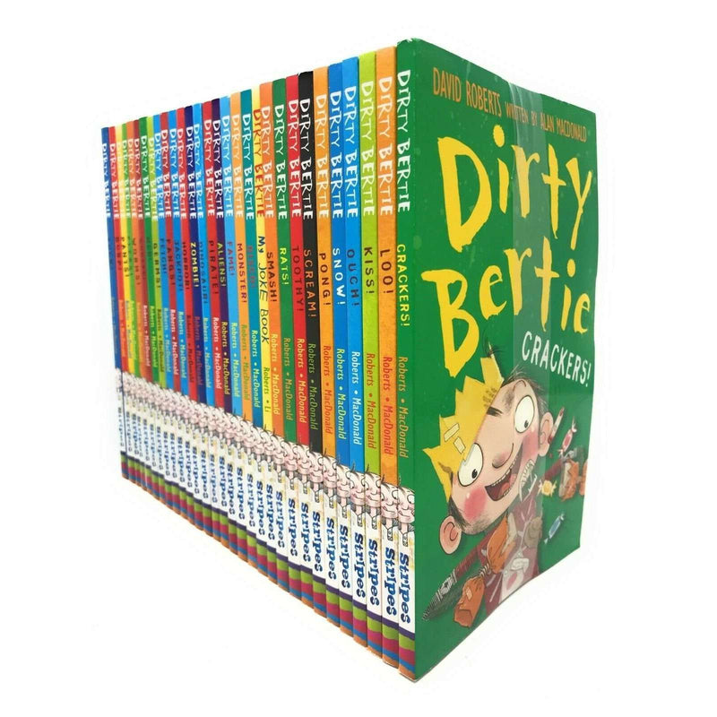 Dirty Bertie series Collection David Roberts 30 Books Set Pack Bundle Series 1-3