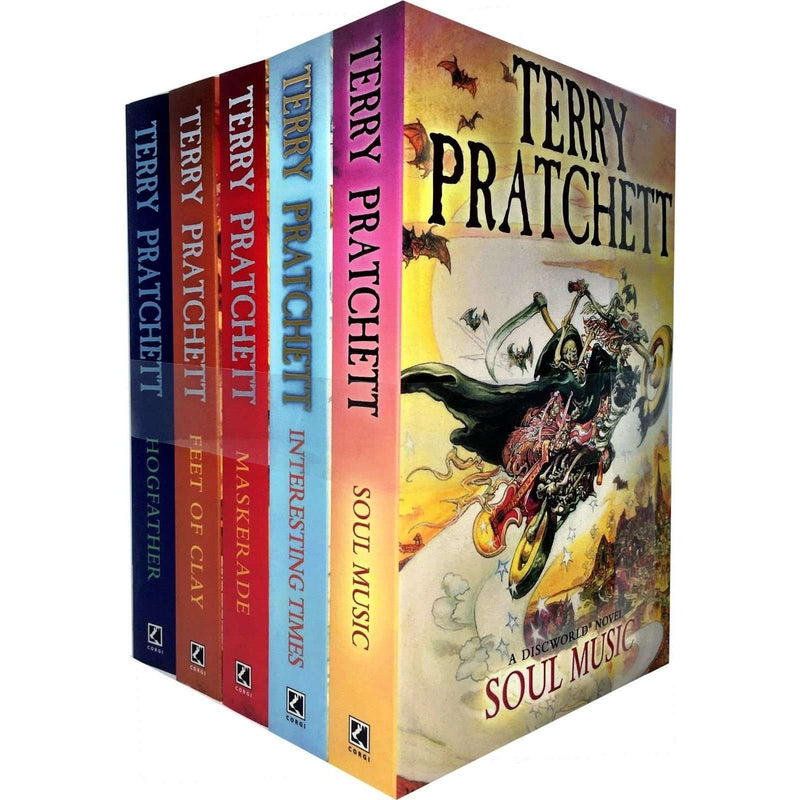 Discworld Novel by Terry Pratchett 5 Books Set Collection (16-20) Pack Series 4