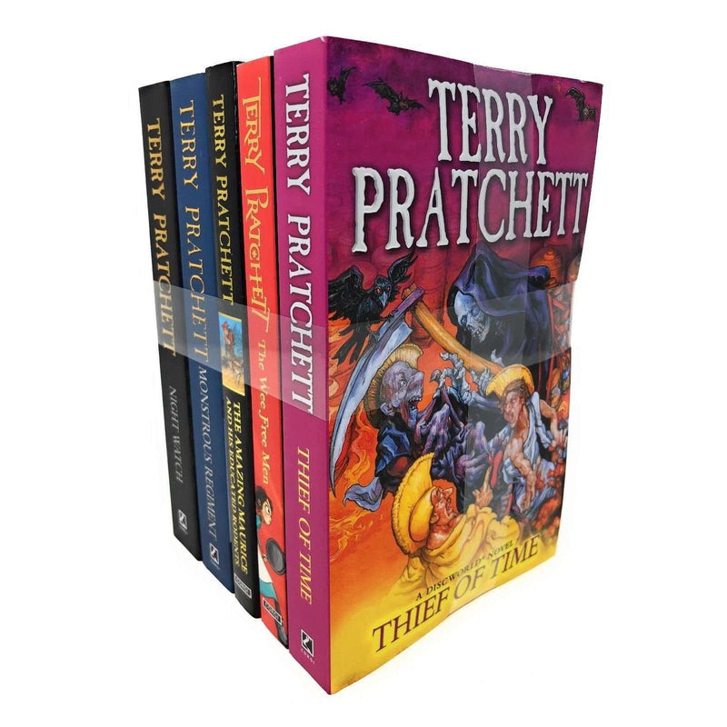 Discworld Novel by Terry Pratchett 5 Books Set Collection (vol 26-30) Series 6