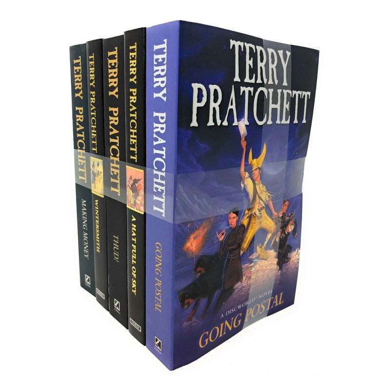 Discworld Novel by Terry Pratchett 5 Books Set Collection (vol 31-35) Series 7