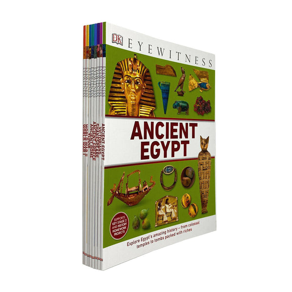 DK Collection Eyewitness By Ancient Egypt Rome Greece Tudor 8 Books Set NEW