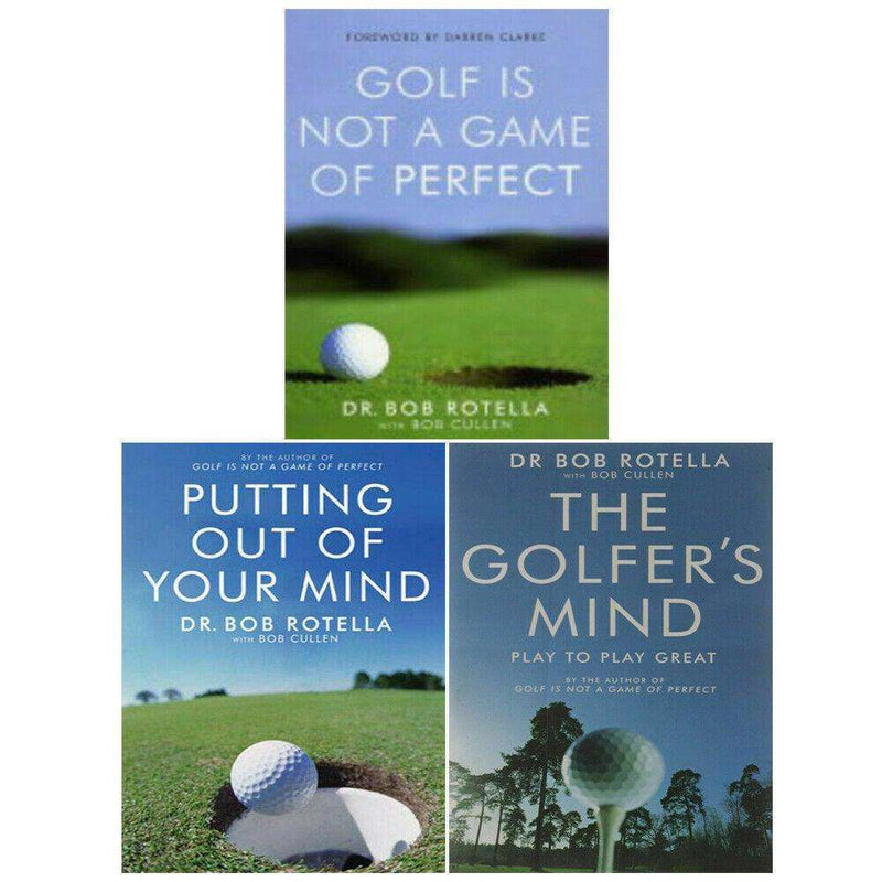 Dr. Bob Rotella 3 Books Collection Set Golf is Not a Game of Perfect