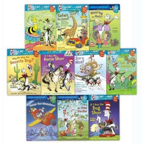 Dr Seuss Young Early Readers Collection 10 Books Set Cat in the Hat, Ice is Nice
