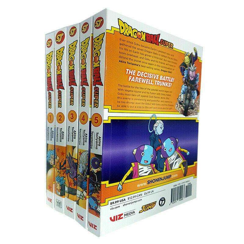 Dragon Ball Super Vol.1-5 Books Collection Set by Akira Toriyama Pack Series NEW