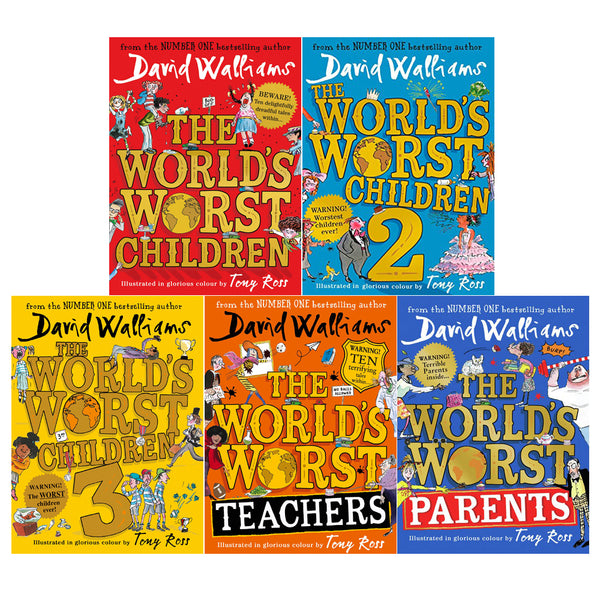 David Walliams World's Worst Children 5 Books Collection Set World's Worst Parent