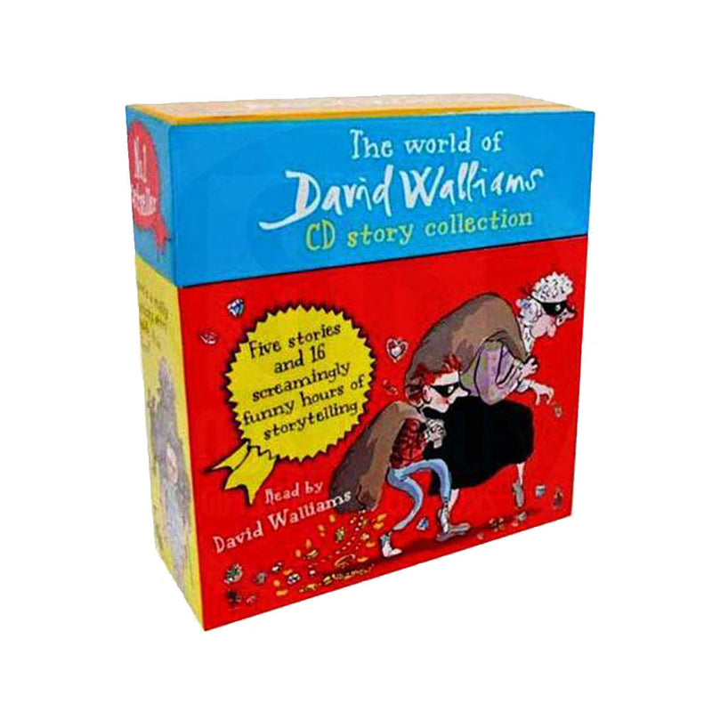 David Walliams 5 Audio Book Set CD Collection (Ratburger, Mr Stink, Gansta Granny,  Billionaire Boy, The Boy in the Dress)