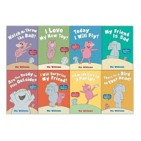 Elephant & Piggie Series Collection 8 Books Set Mo Willems, Invited To A Party
