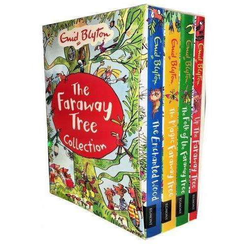 Enid Blyton's The Faraway Tree 4 Magical Books Collection Set The Magic Faraway Tree, The Enchanted Wood