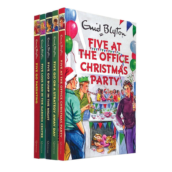 Famous Five 5 Books Collection Set By Enid Blyton Five Go Parenting, Five Go Bum
