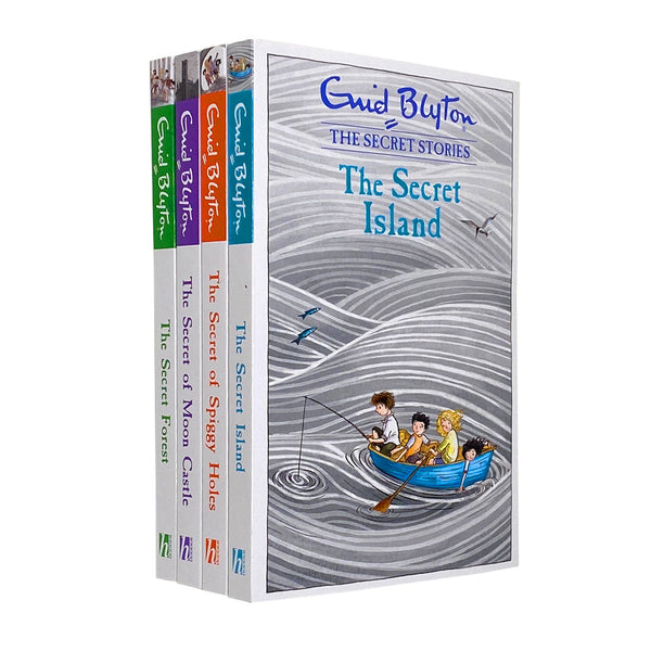 Enid Blyton The Secret Stories 4 Books Set The Secret Island, The Secret Forest
