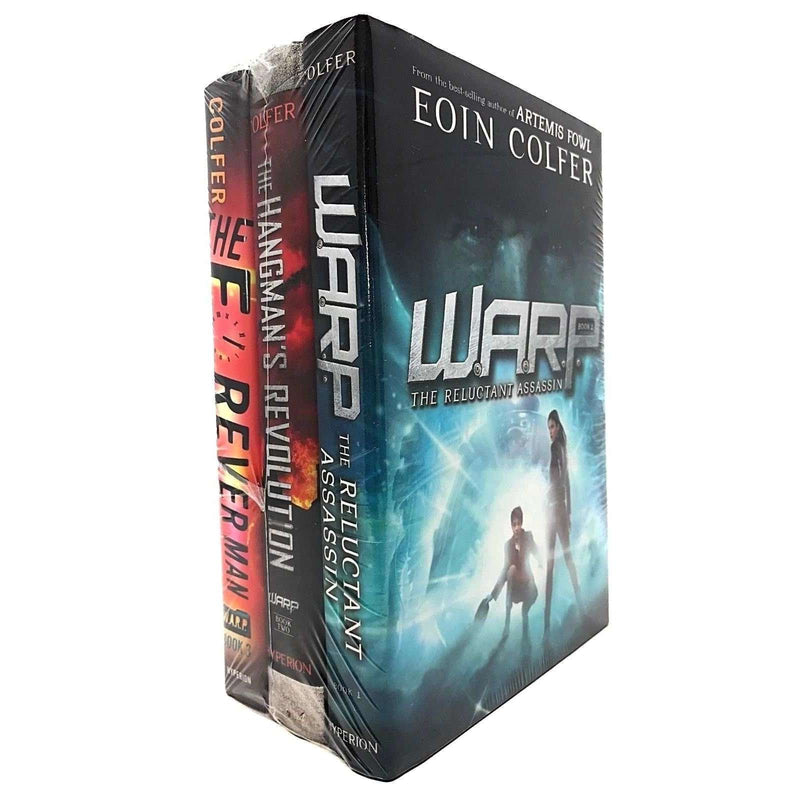 WARP Series 3 Books Set by Eoin Colfer Collection The Reluctant Assassin, Hangmans Revolution, The Forever Man
