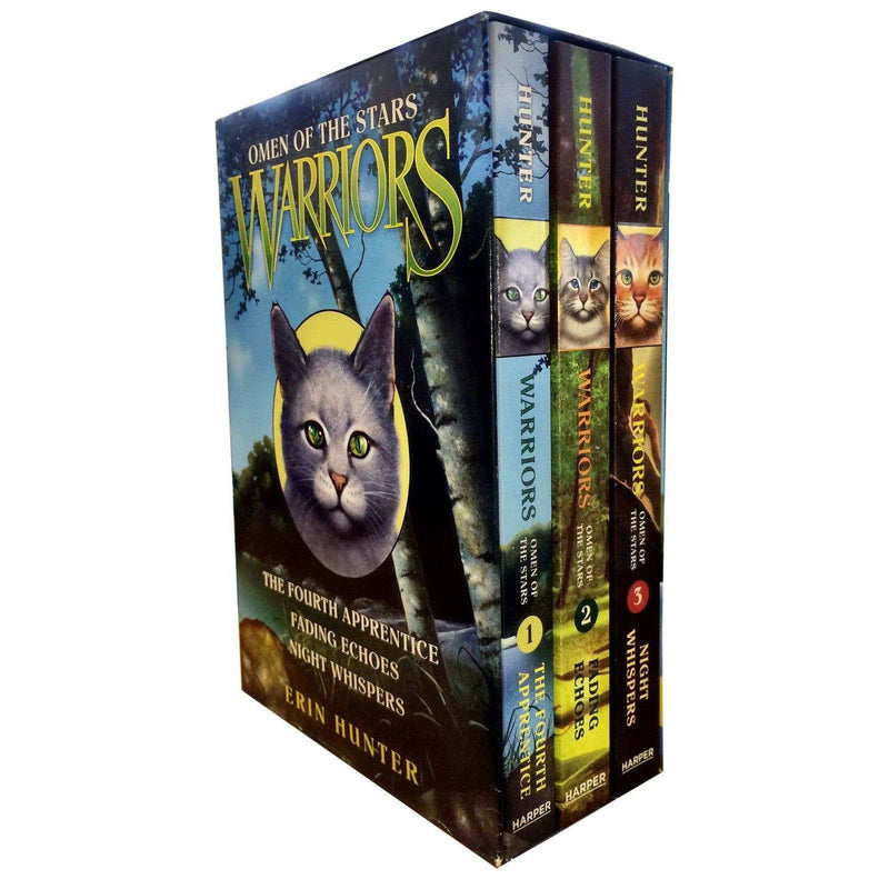 Erin Hunter Omen of the Stars Collection 3 Books Box Set Vol 1-3 Warrior Cats