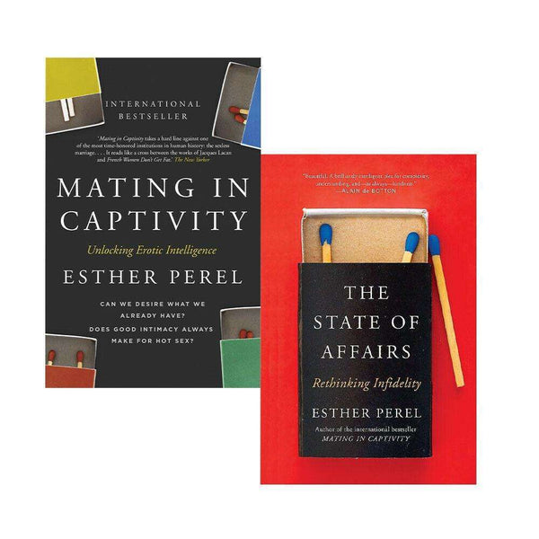 Esther Perel 2 Books Collection Set State of affairs Mating In Captivity Rethink