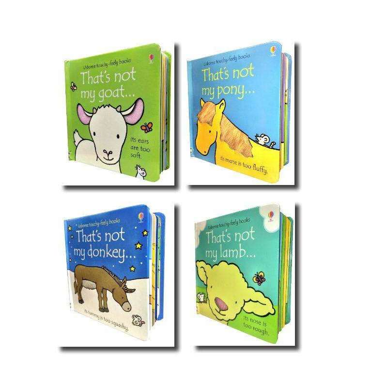 Farm Animals 4 Books Collection Usborne Touchy-Feely 4 Books Set Thats not myseries