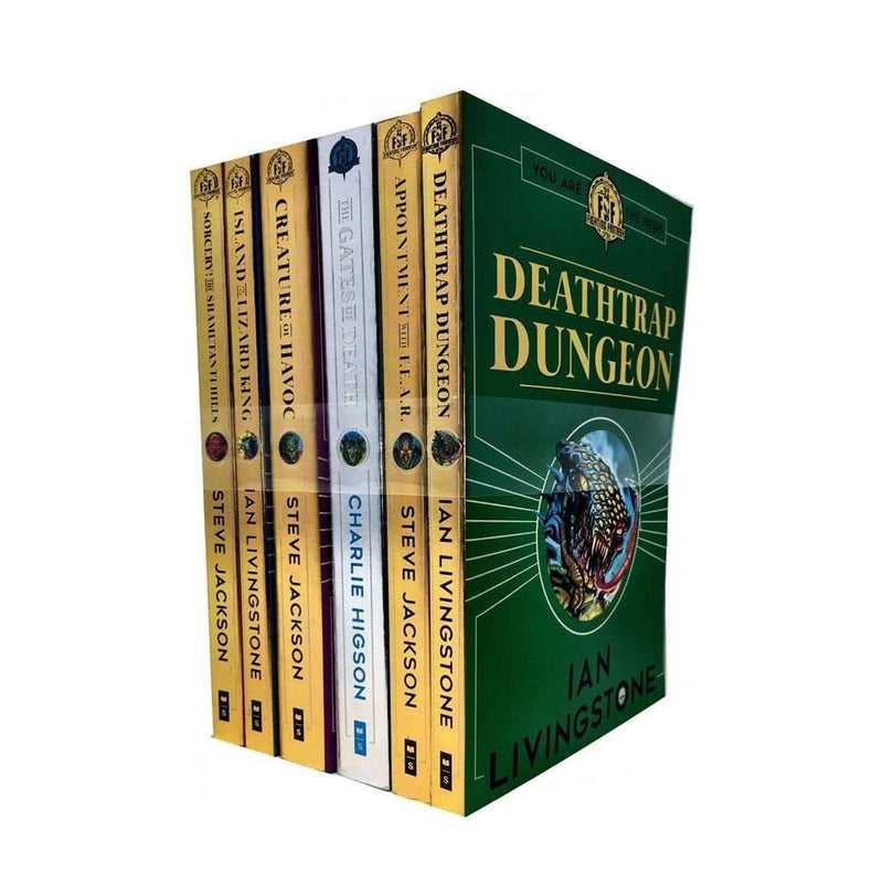 Fighting Fantasy Series 1 By Ian Livingstone 6 Books Collection Set Pack 1 to 6