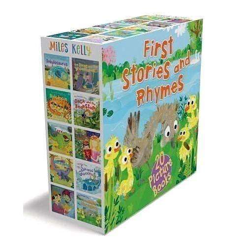 First Stories and Rhymes 20 Book Set Collection Pack - Fairy tales illustrated children books