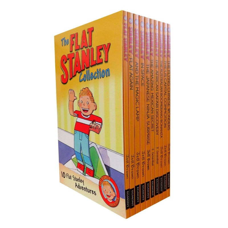 Flat Stanley Adventure Series Collection 10 Books Set (Again, Invisible, & more)  A Flat Stanley Adv