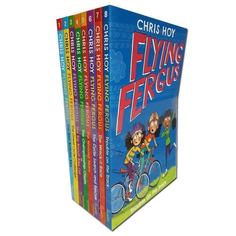 Flying Fergus Chris Hoy 8 Books Collection Series Set Inc Big Biscuit Bike Off