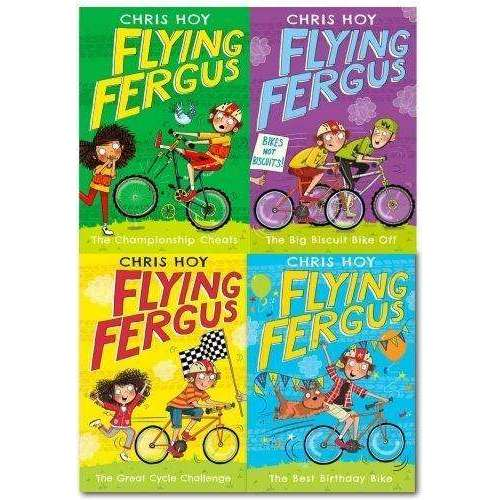 Flying Fergus Series Collection Chris Hoy 4 Books Set The Great Cycle Challenege