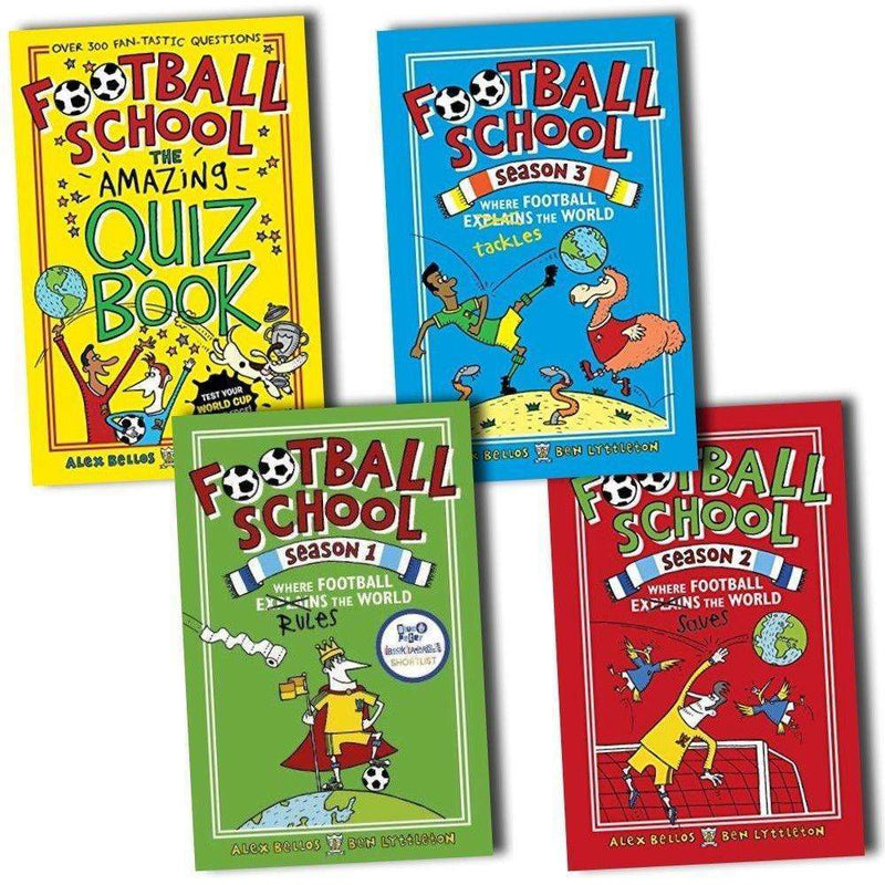 Football School Season Series Collection 4 Books Set Pack Inc Quiz Book