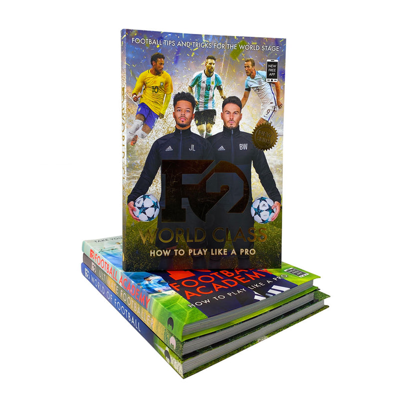 F2 Freestylers Football Series 4 Books Collection Set (F2 World Class, F2 Footba