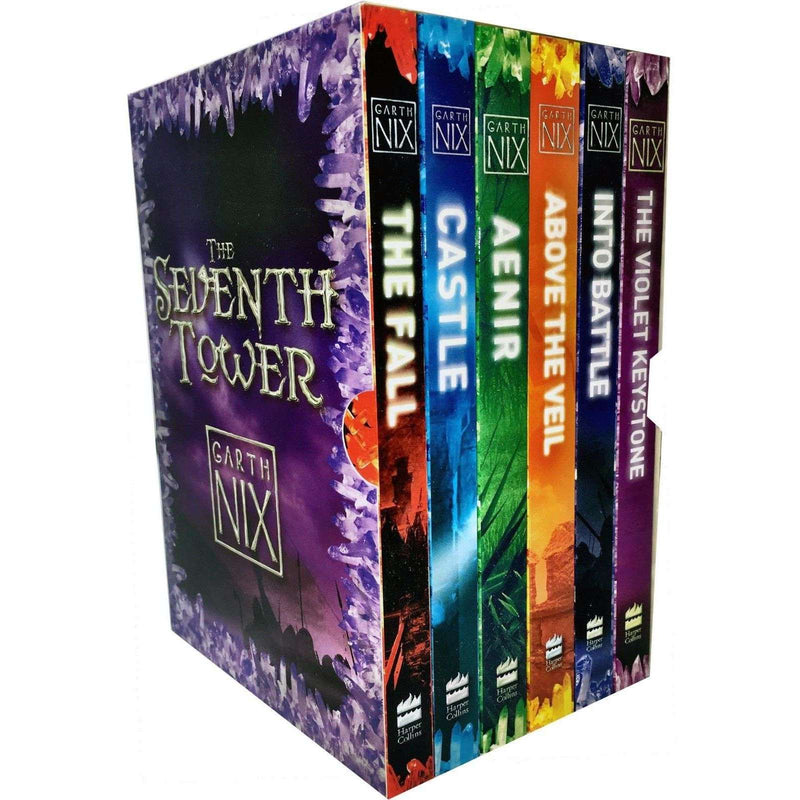 Garth Nix The Seventh Tower Collection 6 Books Box Set Castle, Violet Keystone