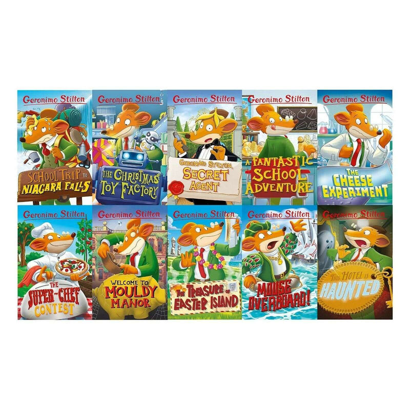 Geronimo Stilton 10 Book Set Collection Series 2 - School Trip to Niagara Falls