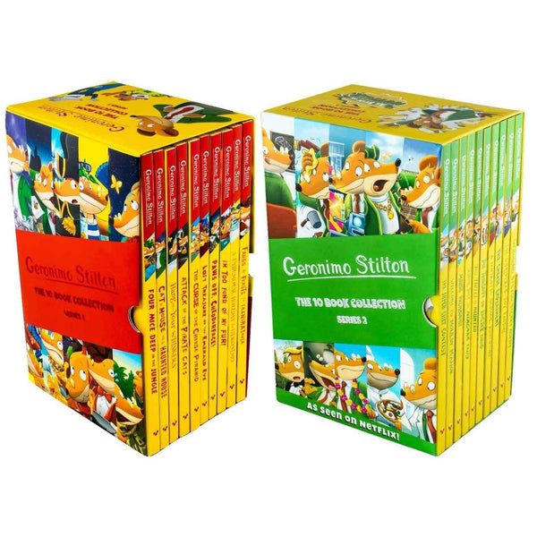 Geronimo Stilton Series 1 & Series 2 - 20 Books Collection Box Set