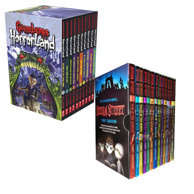 Goosebumps HorrorLand Series & Scream Street 23 Books Collection Box Gift Set
