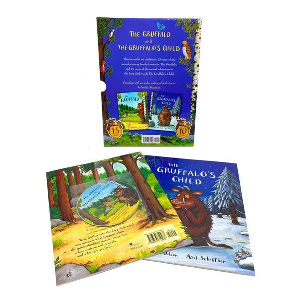 The Gruffalo and The Gruffalo's Child book set collection with Audio CD slipcase