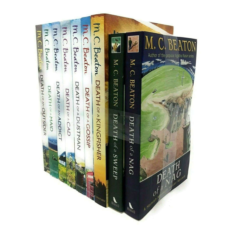 Hamish Macbeth 9 Books Set Collection By M C Beaton Inc Dustman, Addict, Maid