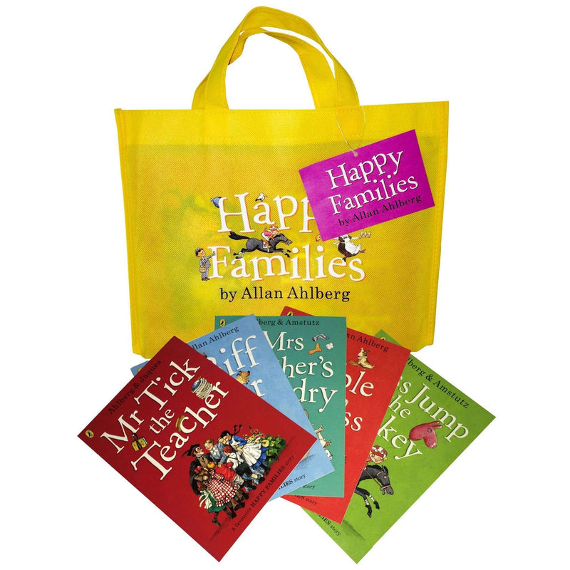 Happy Families Collection Allan Ahlberg 10 Books Set in a Bag Children Pack