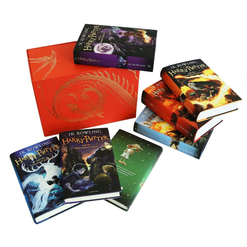 Harry Potter Complete Collection 7 Books Set Collection J K Rowling Hardback Red