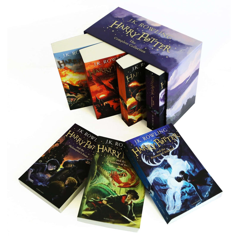 Harry Potter Full 7 Books Box Set Collection by J K Rowling - Purple Box