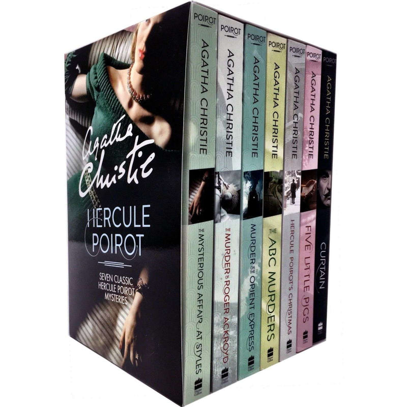 Hercule Poirot 7 Classic Mysteries Boxed Set by Agatha Christie ABC Murders