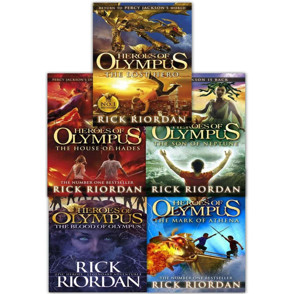 Heroes of Olympus 5 Books Collection Set By Rick Riordan includes Lost Hero