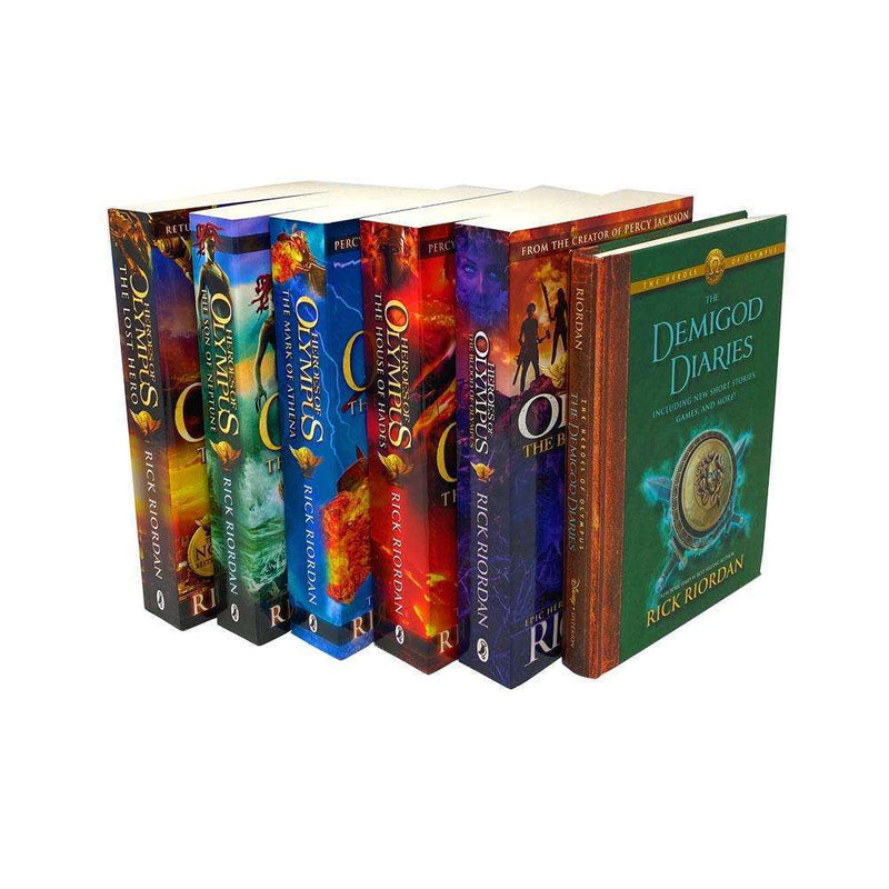 Heroes of Olympus Series 6 Books Collection Set By Rick Riordan