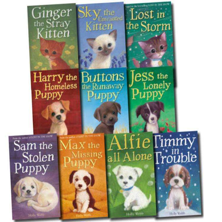 Holly Webb 10 books Collection Set Puppy and kitten Childrens pet RSPCA Pack Series 1