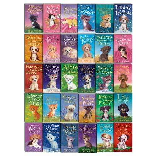 Holly Webb Animal Stories 30 Book Set Collection Puppy and Kitten Rescue Series