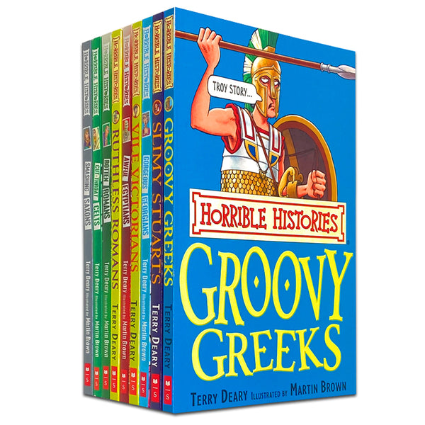 Horrible Histories 9 Books Collection Set by Terry Deary and Martin Brown
